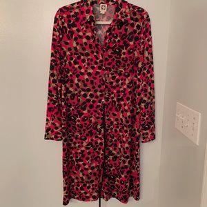 Dresses & Skirts - Anne Klein pink multi jaguard dress, size Large
